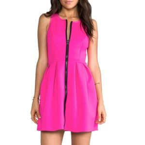 Neon Hot Pink A-line Dress by StyleStalker